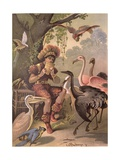 Papageno the Bird-Catcher, from 'The Magic Flute' by Wolfgang Amadeus Mozart (1756-91) Giclee Print by Carl Offterdinger