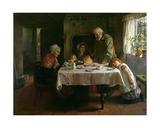 Grace before Supper Giclee Print by Mary Evelina Kindon