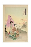 Women Admiring Maples, from the Series 'Gekko's Idle Brush', 1892 Giclee Print by Ogata Gekko