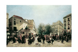 The Rambla Giclee Print by Ramon Marti Alsina