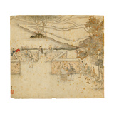 Winnowing and Sifting, from 'Gengzhi Tu' Giclee Print by Tang Yin