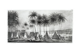 Port of Hanarourou in the Sandwich Islands, from 'Voyage Pittoresque Autour Du Monde', Engraved… Giclee Print by Ludwig Choris