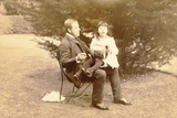 Sambourne with His Daughter Maud Photographic Print by Edward Linley Sambourne