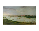 The Royal Hospital from the South Bank of the River Thames Giclee Print by Peter Tillemans