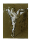 Nude Girl with Right Leg Raised Giclee Print by Henry Tonks