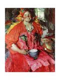 The Girl with a Jug Giclee Print by Abram Efimovich Arkhipov