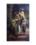 Women of Cervara, 1858 Giclee Print by Antoine Auguste Ernest Herbert or Hebert