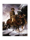 Napoleon Crossing the Alps, 1850 Giclee Print by Hippolyte Delaroche