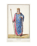 Louis IX (1214-70) King of France from 'Receuil Des Estampes, Representant Les Rangs Et Les… Giclee Print by Pierre Duflos