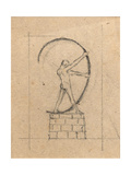 Man Arching Bow, C.1897 Giclee Print by Charles Robert Ashbee