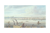 A Fine View of London from Westminster Bridge to the Adelphi, 1837 Giclee Print by Gideon Yates