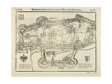 Plan of Augsburg, from 'Cosmographia', 1544 Giclee Print by Sebastian Munster