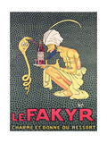 The Fakyr: Charmer and Giver of Spirit, Advertisement for 'Fakyr' Aperitif Giclee Print by Michel, called Mich Liebeaux