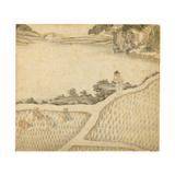 Tending the Rice Plants, from 'Gengzhi Tu' Giclee Print by Tang Yin