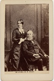 Rutherford Birchard Hayes (1822-93), 19th President of the USA, and Lucy Ware Webb Hayes… Photographic Print