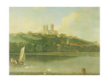 A View of the Cathedral and City of Lincoln from the River, C.1760 Giclee Print by Joseph Baker