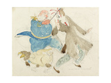 The Neutral: Uncle Sam and Von Turpitz Giclee Print by Henry Tonks