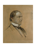 Portrait Sketch of William Ewart Gladstone (1809-98) Giclee Print by Franz Seraph von Lenbach