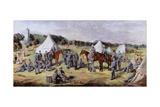 The 1st Administrative Batallion of the Norfolk Volunteers at Gunton Park, 1864 Giclee Print by Claude Lorraine R.W Nursey