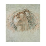 Head of a Youth, Seen from Below Giclee Print by Charles de La Fosse