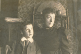 Maria Sambourne (1851-1914) with Her Son Roy (1878-1946) Photographic Print by Edward Linley Sambourne