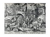 Envy, from the Seven Deadly Sins, Engraved by Peter Van Der Heyden (C.1530-72) 1558 Giclee Print by Pieter Bruegel the Elder