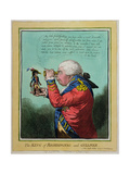 The King of Brobdingnag and Gulliver, Published by Hannah Humphrey in 1803 Giclée-tryk af James Gillray