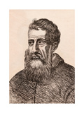 Jacopo Tintoretto, Illustration from '75 Portraits of Celebrated Painters from Authentic… Giclee Print by James Girtin