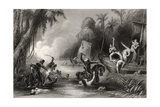 Massacre in the Boats Off Cawnpore in 1857, from 'The History of the Indian Mutiny', Published in… Giclee Print