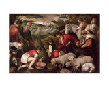 Moses Striking Water from the Rock Giclee Print by Jacopo Bassano