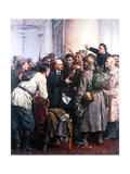 At Smolny Palace Giclee Print by Valentin Aleksandrovich Serov