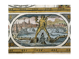 The Colossus of Rhodes, Erected 292-280 Bc, from 'Le Theatre Du Monde', 1645 Giclee Print by Willem And Joan Blaeu