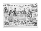 The Political Arena, Possibly Published in Cincinnati, C.1861 Giclee Print