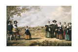 Portrait of Family in a Landscape, 1641 Giclee Print by  Jacob Gerritsz and Aelbert Cuyp