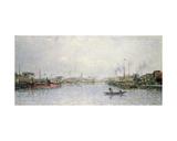 Le Bassin De La Villette, Paris Giclee Print by Stanislas Victor Edouard Lepine