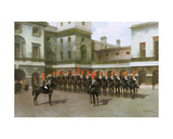 The Blues and Royals, Guard Mounting Parade, Whitehall Giclee Print by Charles Edouard Armand-dumaresq