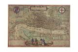 Plan of London from 'Civitates Orbis Terrarum', Vol. 1, 1572 Giclee Print by Franz Hogenberg