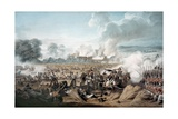 Attack on the British Squares by French Cavalry at the Battle of Waterloo, 1815 Giclee Print by Denis Dighton