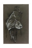 Girl Sitting on a Chair Giclee Print by Henry Tonks
