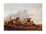 A Cavalry Skirmish, Early 1640s Giclee Print by Philips Wouwermans Or Wouwerman