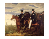 The Duke of Wellington Describing the Field of Waterloo to King George IV (1762-1830) 1844 Giclee Print by Benjamin Robert Haydon