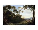 Wooded Landscape Giclée-tryk af Salvator Rosa