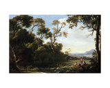 Wooded Landscape Giclee Print by Salvator Rosa