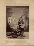 """Allie Kunie, in Costume as the Girl from the Poem """"The Pride of Battery B"""", by Frank H Gassaway… Photographic Print"""