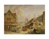 The Old Fishmarket, Norwich, 1825 Giclee Print by David Hodgson