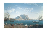 The Port of Palermo, 1791 Giclee Print by Jacob-Philippe Hackert