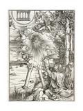 Scene from the Apocalypse, St. John Devouring the Book, Latin Edition, 1511 Giclee Print by Albrecht Dürer or Duerer