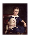 Study of a Boy with Pet Dog, 1860 Giclee Print by Wilhelm Marstrand