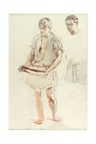 Man Standing: Studies of Head and of Shirt Giclee Print by Henry Tonks