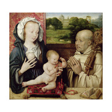 The Virgin and Child Worshipped by St.Bernard (Detail) Giclee Print by Joos Van Cleve